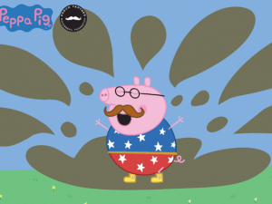 Daddy Pig joins the Movember campaign