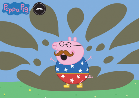 Daddy Pig supports Movember