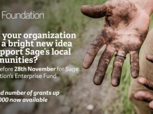 Sage Foundation looks for more entrepreneurial ideas from UK charities