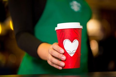 Starbucks red holiday cup 2017