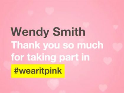 Wearing pink, Twitter and personalised content…