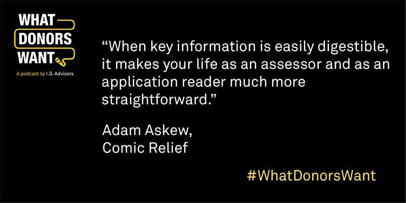 Adam Askew quote from What Donors Want podcast