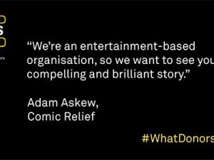 What Donors Want – Episode #3: Adam Askew, Comic Relief