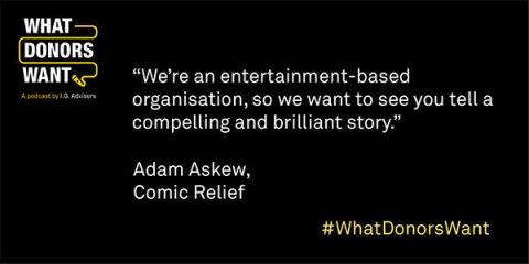 Adam Askew quote from What Donors Want