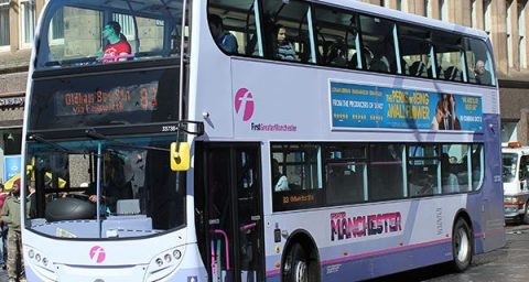 First Group plc bus in Manchester