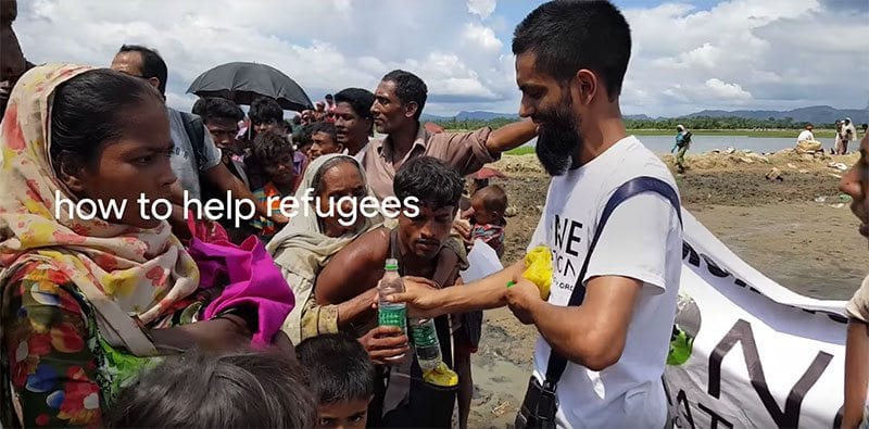 Google search - how to help refugees?