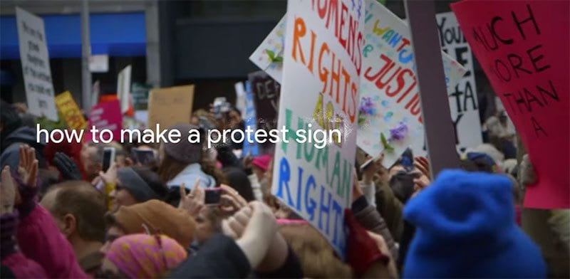Google search - how to make a protest sign?