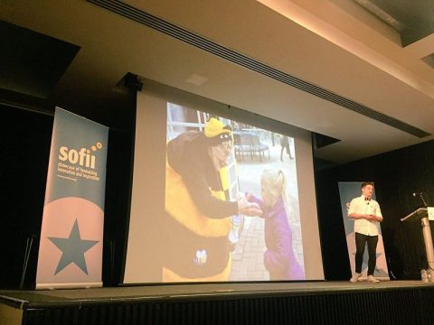 Alfie Waldron presents the Bee Lady at IWITOT 2017