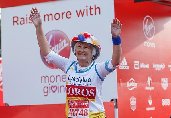 Lynda MacMurray completes the Virgin Money London Marathon 2017