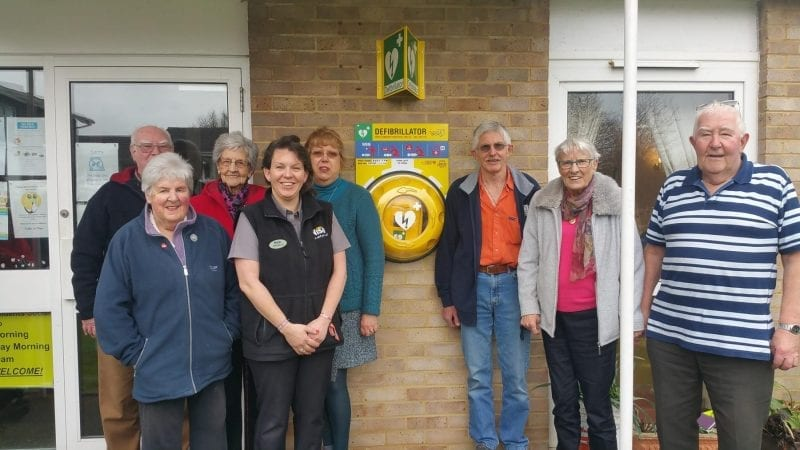 Merley defibrillator funded by MADL