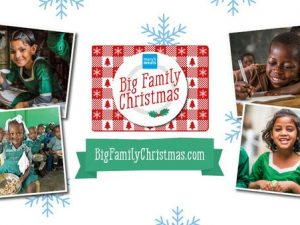 Mary's Meals asks people to feed a child through its Big Family Christmas dinner