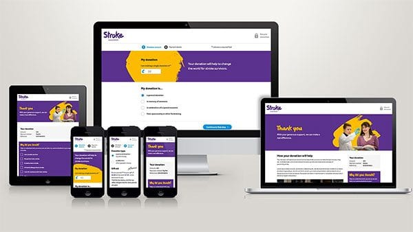 The Stroke Association's redesigned donation process
