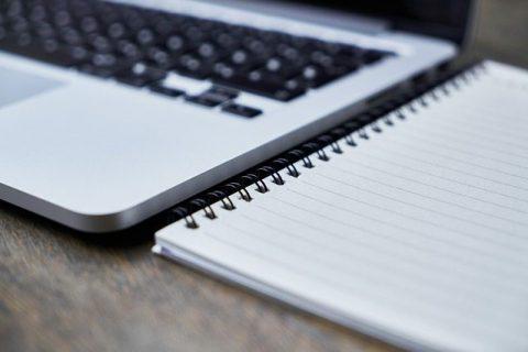 computer & notepad
