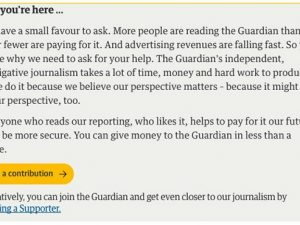 Guardian's membership & donation campaign boosts paying readership to 800k