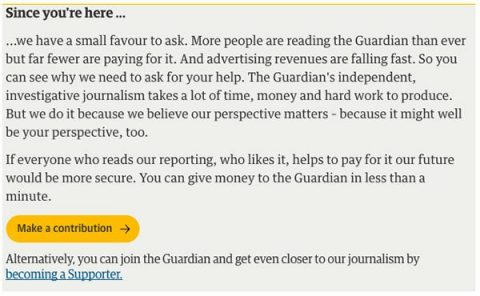 Guardian fundraising appeal