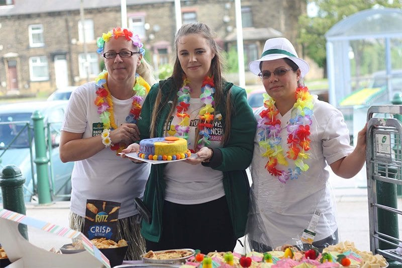 Morrisons staff hold a bake sale for CLIC Sargent