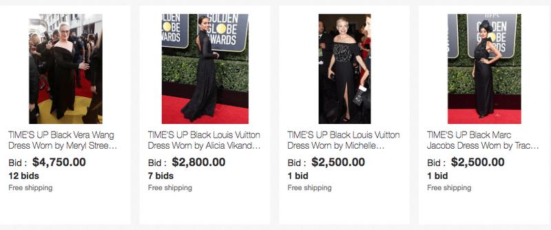 eBay celebrity dress auction
