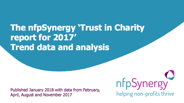NfpSynergy Trust in Charities 2017