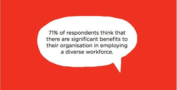 Finding (in speech bubble) from IoF diversity in fundraising report 2013