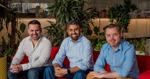 Lightful founders (l-r) Carlos Miranda (Chairman), Vinay Nair (CEO) and Johnny Murnane (COO)