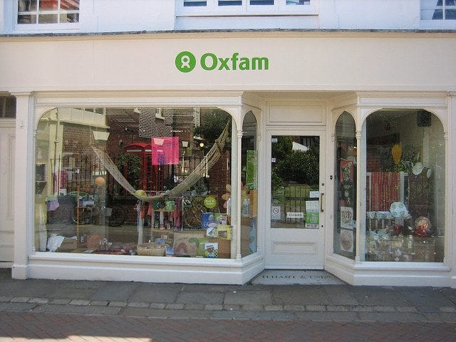 Oxfam shop in Canterbury