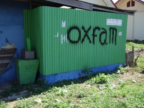 Oxfam sign - photo: unoikorn on flickr.com