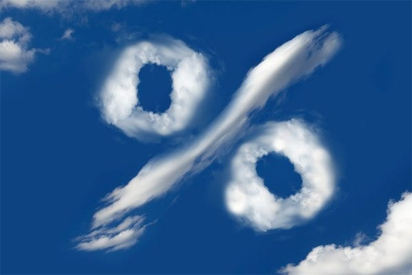 per cent sign in the clouds - image: Pixabay