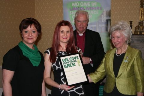 Fiona Goldsby being awarded the Vicky Clement-Jones Award