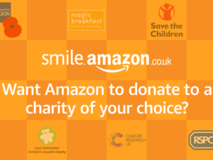 How much do UK charities receive from Amazon Smile?