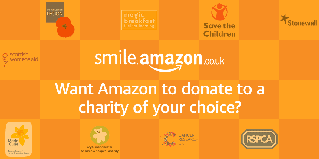 11 UK charity logos of the first to benefit from SmileAmazon