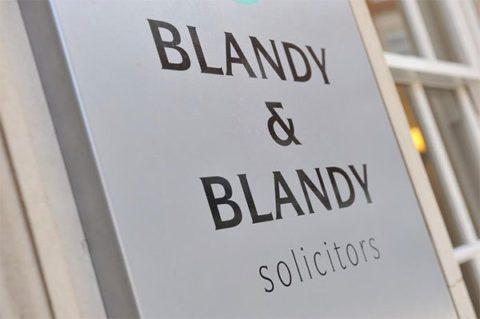 Blandy & Blandy - office sign