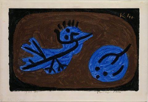 """""""Blue-Bird-Pumpkin"""" by Paul Klee (German (born Switzerland), Münchenbuchsee 1879–1940 Muralto-Locarno) via The Metropolitan Museum of Art is licensed under CC0 1.0"""