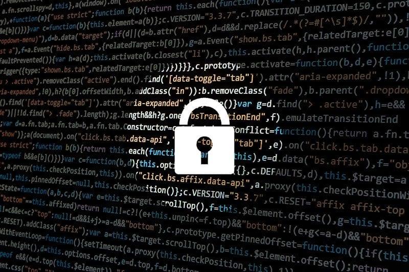 Cyber security - padlock over data - image: Pixabay.com