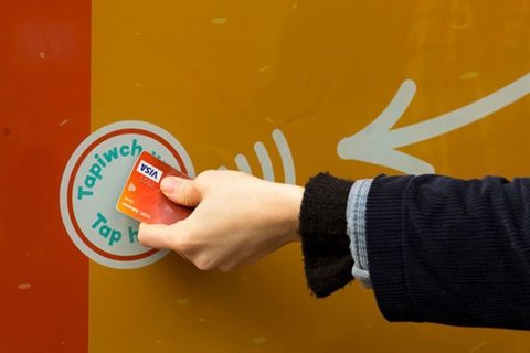 Contactless donation being made for Give DIFFerently