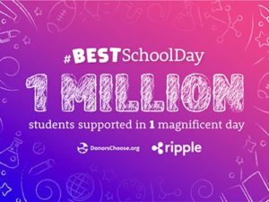 Ripple cryptocurrency fully funds all projects on DonorsChoose