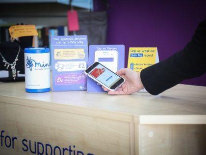 Mind's retail arm pilots contactless donation terminals