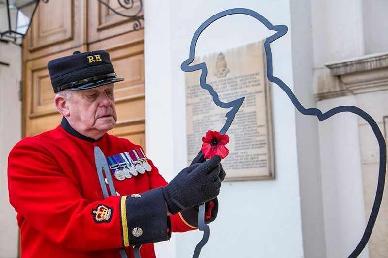 Chelsea Pensioner and There But Not There silhouette Tommy