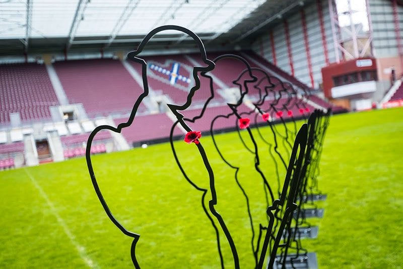 There But Not There silhouettes at Hearts FC