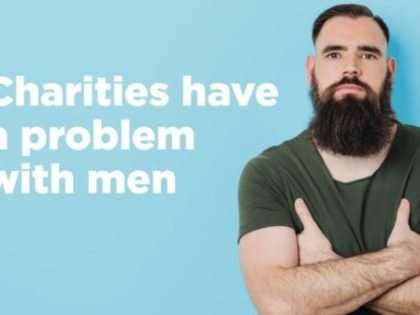 Charities have a problem with men