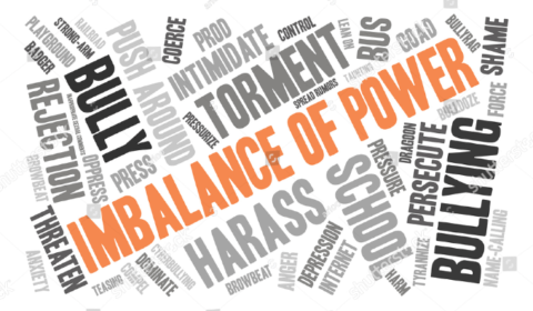 Wordcloud of 'imbalance of power'