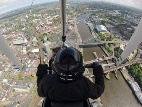Flexwing over the Tyne