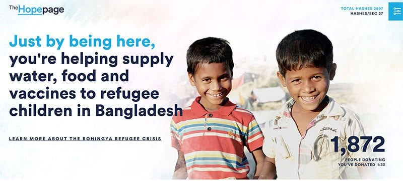 Unicef Australia says income is being donated to refugee children in Bangladesh