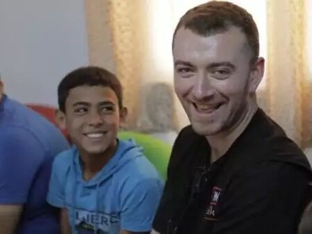 Sam Smith in Jordan with War Child - photo: War Child