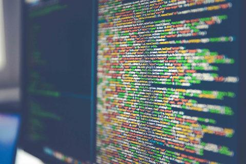 Computer screen of code