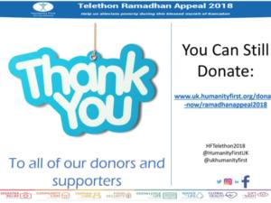 24-hour Ramadan telethon raises £2.5million