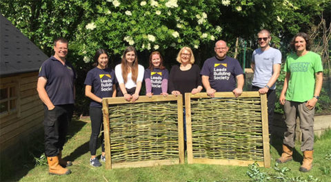 Leeds Building Society volunteers at Skelton Grange