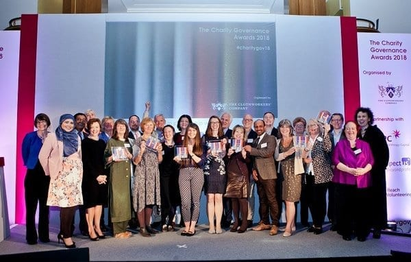 2018 Charity Governance Awards winners