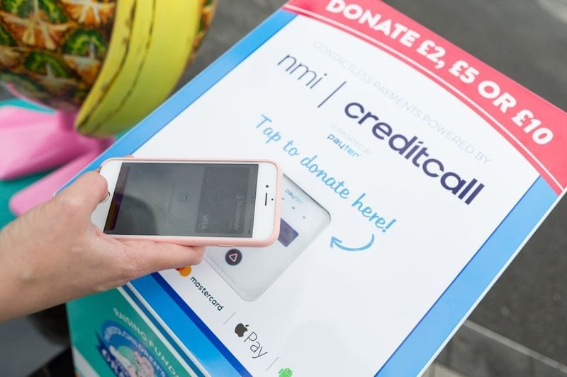 contactless donation point