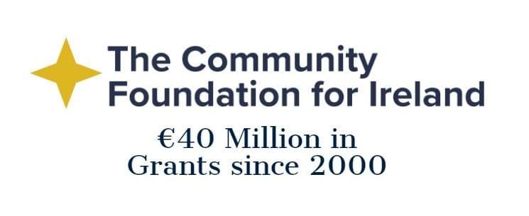 Community Foundation for Ireland logo - €40m in grants