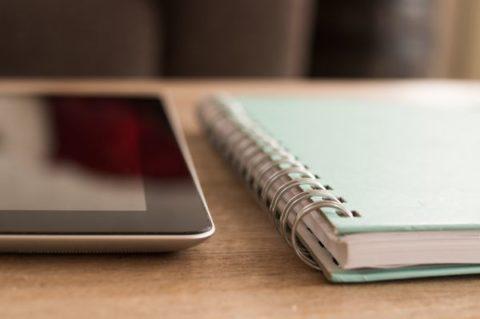 iPad & notebook